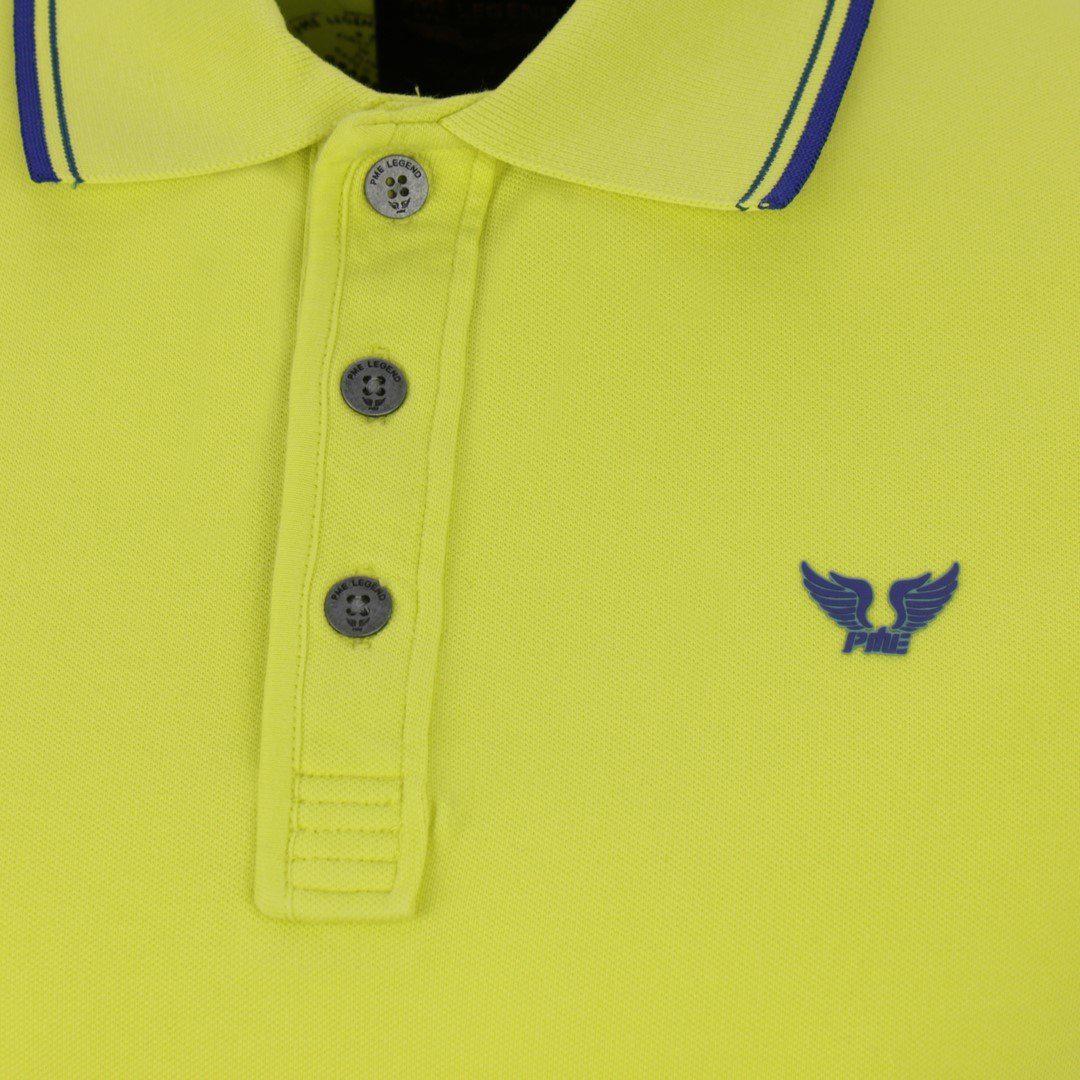 PME Legend Herren Piqué Polo Shirt gelb unifarben PPSS204883 1126