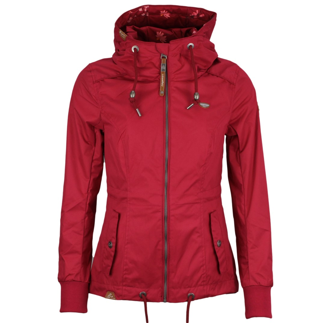 Ragwear Damen Sommer Jacke rot unifarben Danka 2111 60019 4000 red