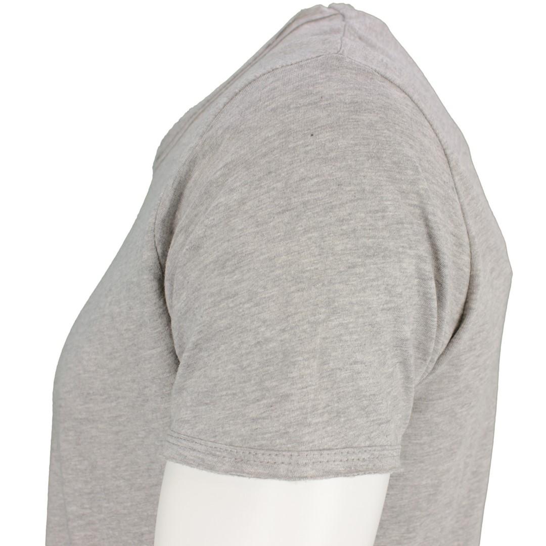Key Largo Herren T-Shirt grau unifarben MT Bread New silver
