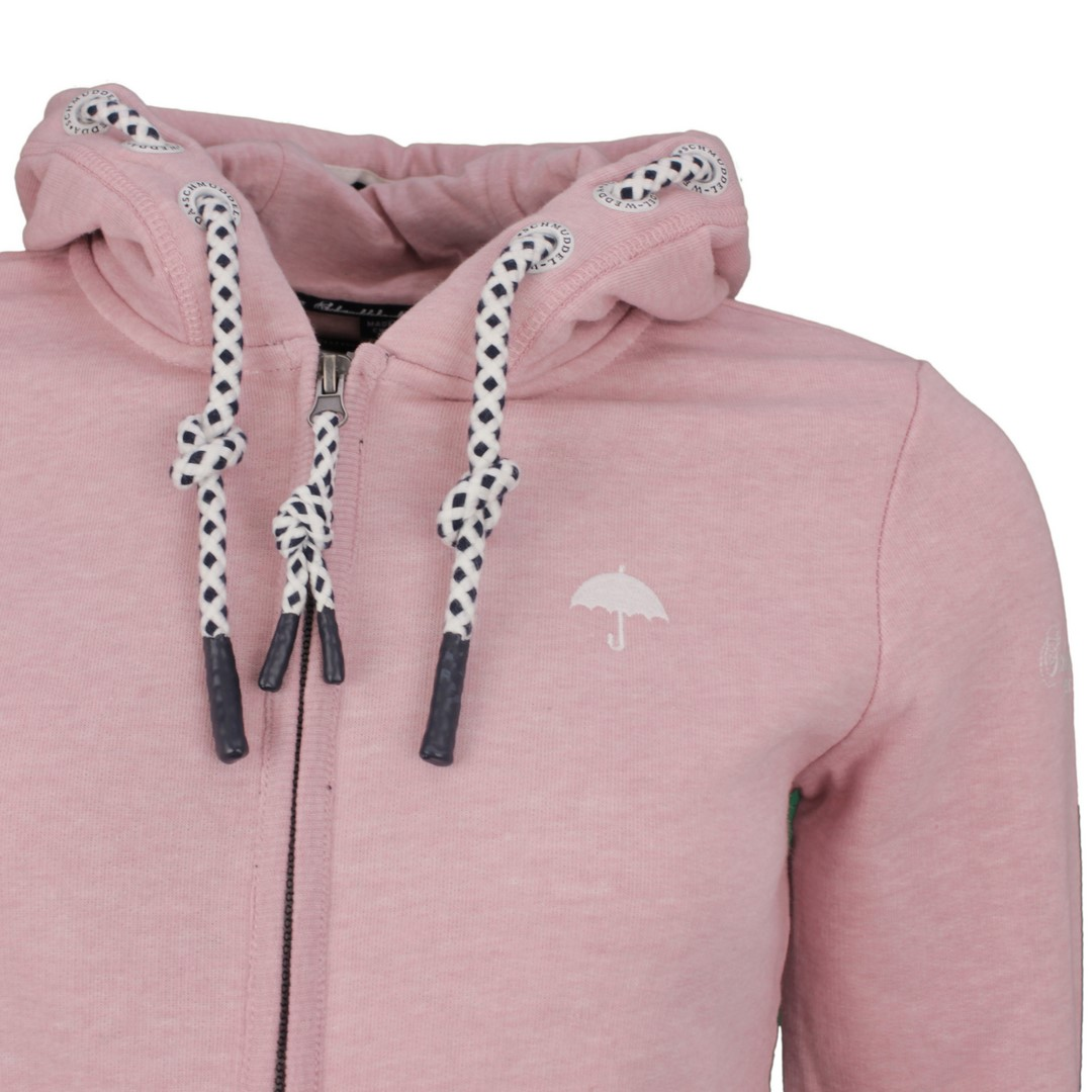 Schmuddelwedda Damen Sweat Jacke hell rosa unifarben 34612176 rosa melange