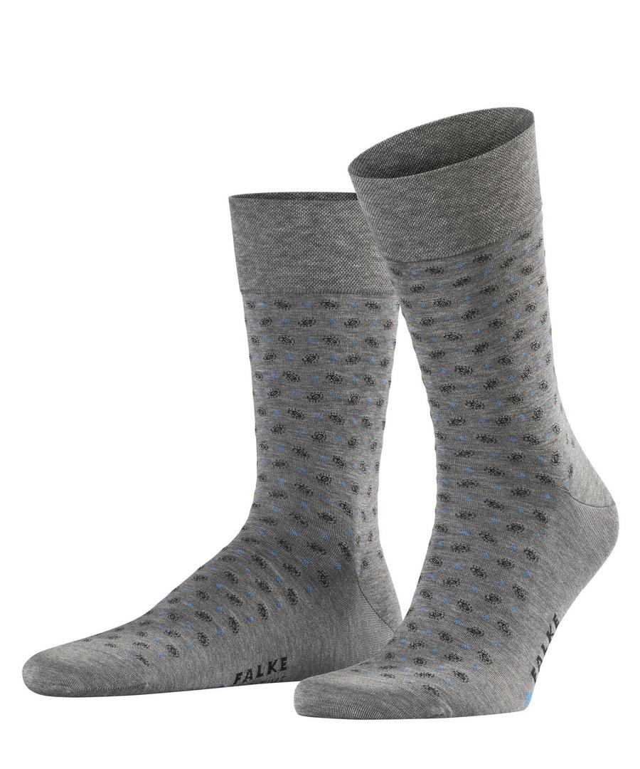 Falke Socke Sensible Jabot  grau gemustert 13344 3165