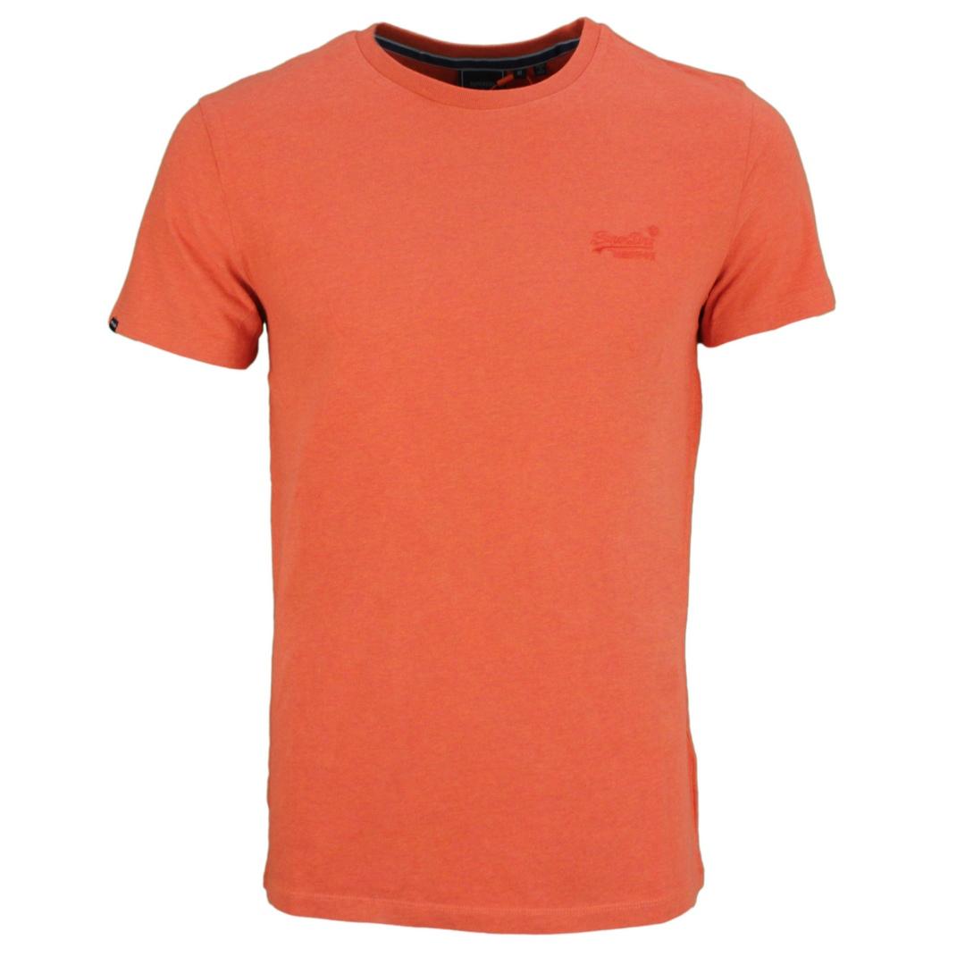 Superdry T-Shirt Rundhals Shirt Vintage Logo Emb Tee unifarben M1011245A 5EY rust orange