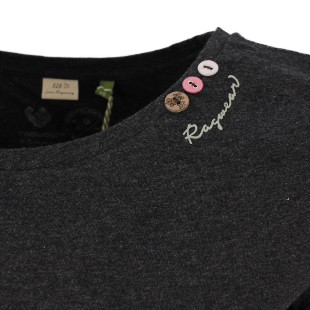 Ragwear Damen T-Shirt Florah a Organic grau unifarben 2111 10049 3012 dark grey