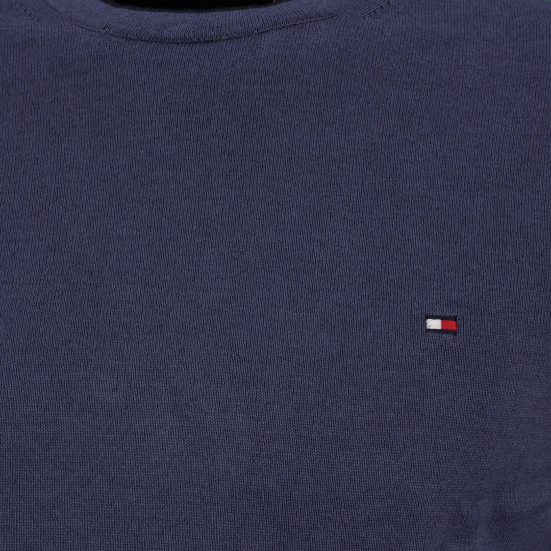 Tommy Hilfiger Strick Pullover Tipped Double Face blau MW0MW17349 C9T Faded Indigo