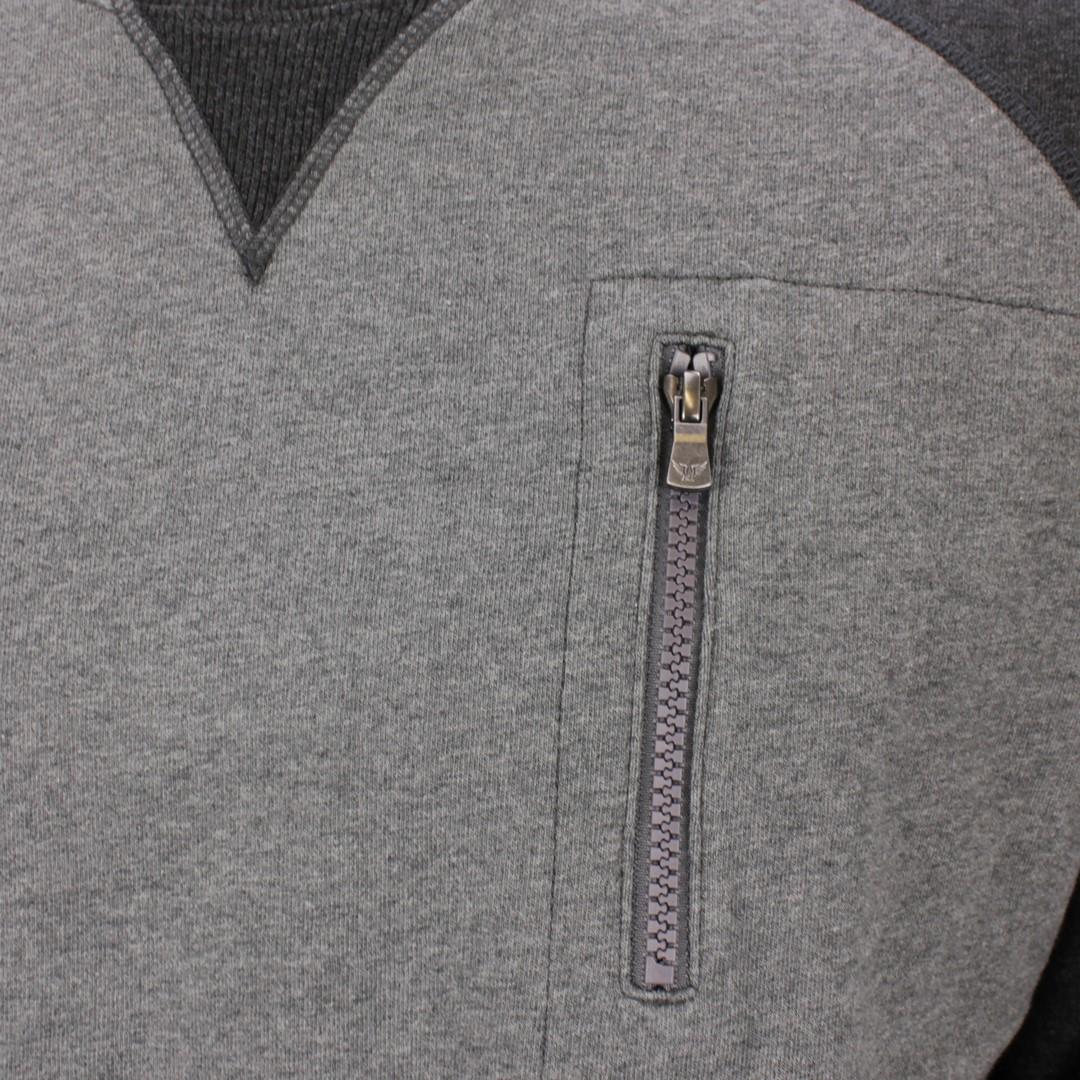 PME Legend Herren Sweat Pullover Interlock grau meliert PLS206514 921