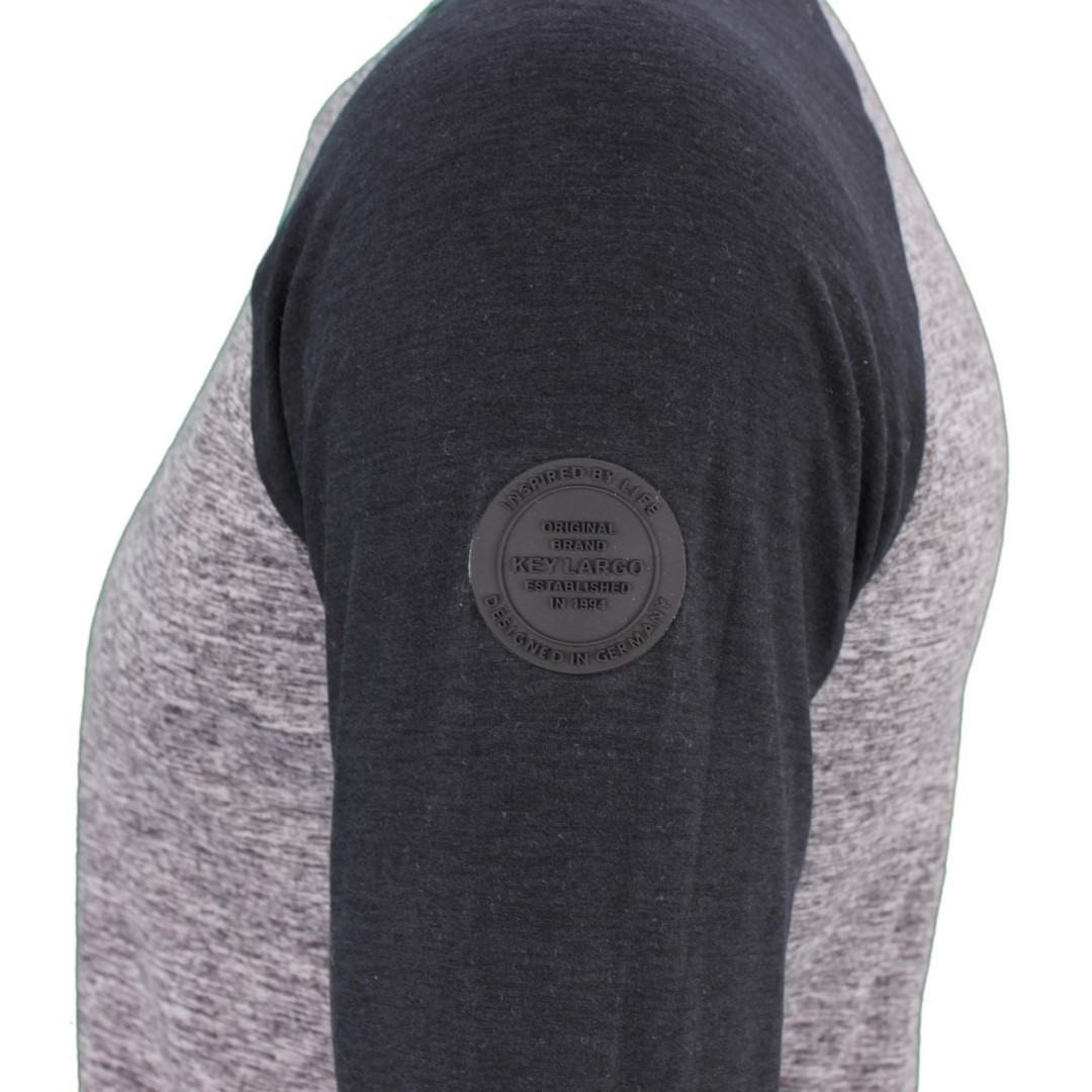 Key Largo Herrren Raglan langarm Shirt schwarz MLS Ernie black