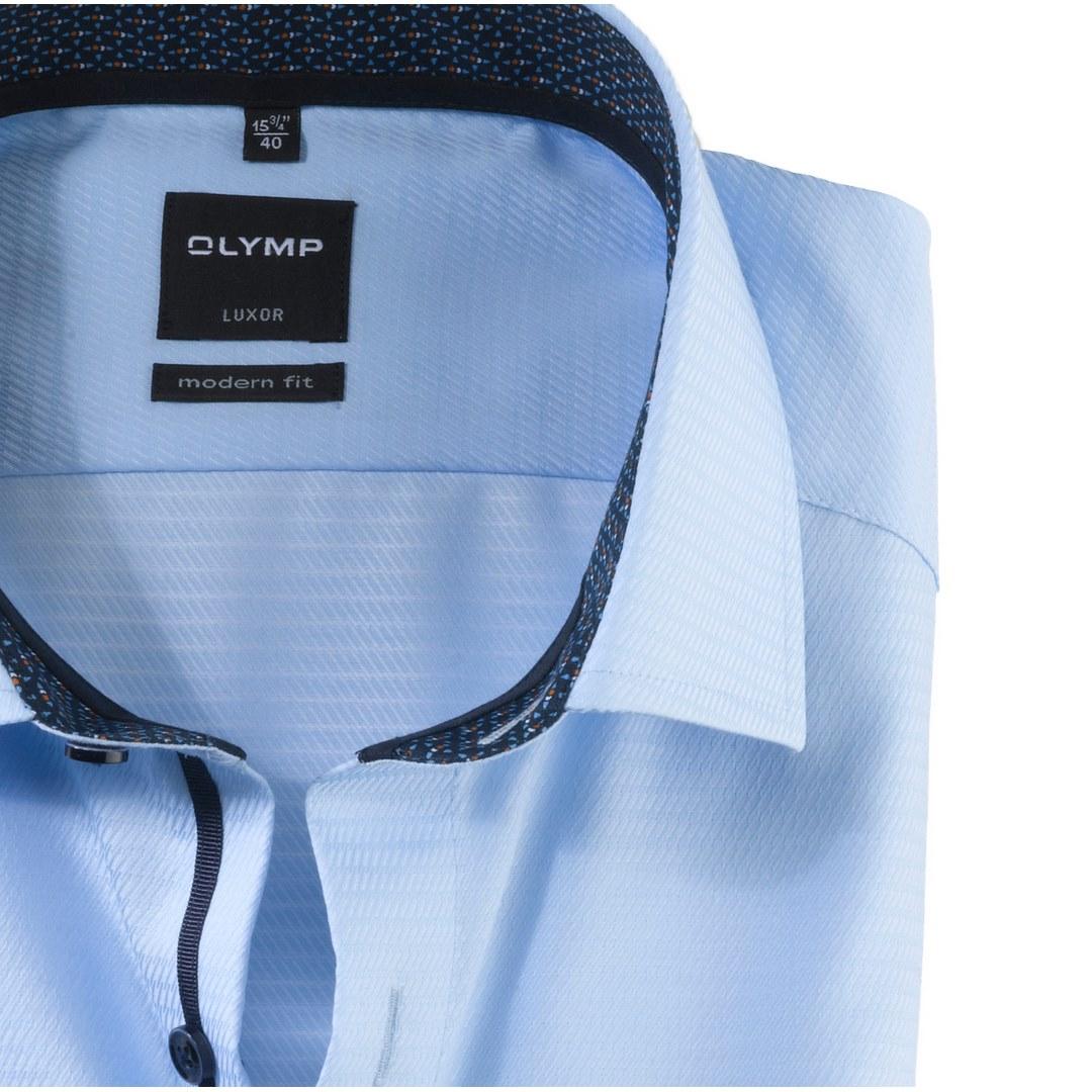 Olymp Luxor Modern Fit Herren langarm Hemd Anzughemd Business blau 121564 11 bleu
