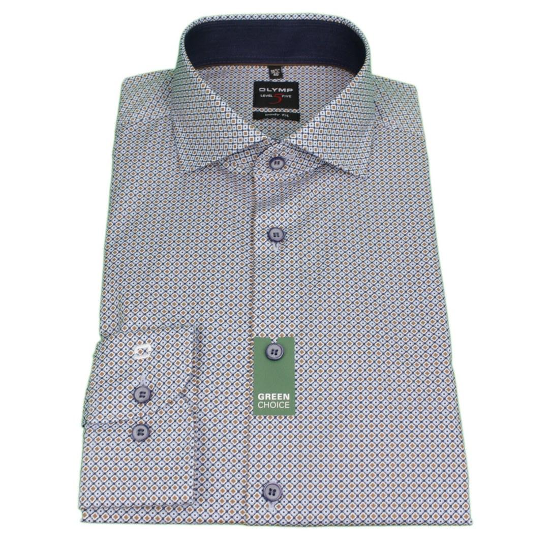 Olymp Body Fit Hemd Level 5 mehrfarbig gemustert 209884 28