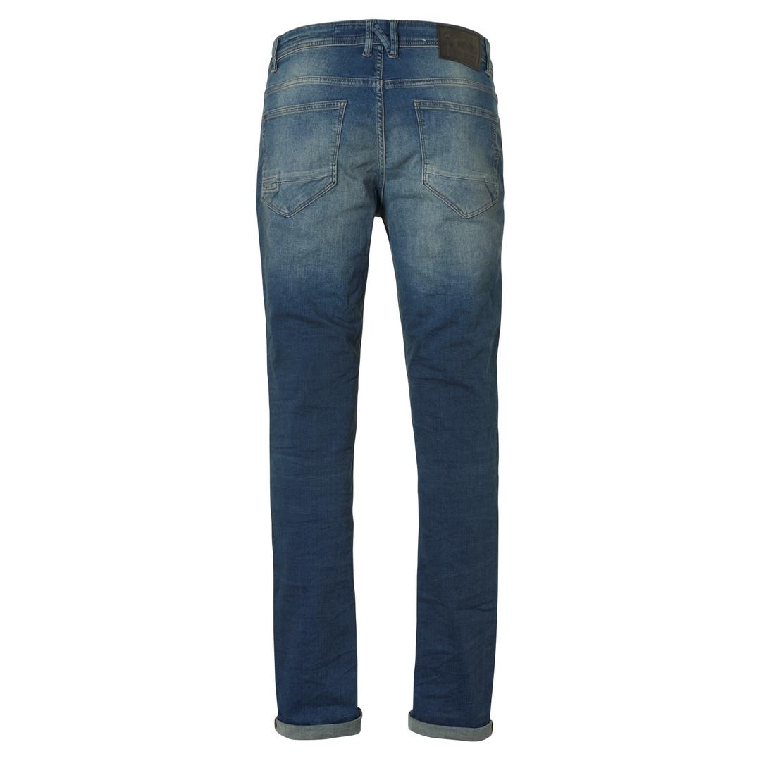 No Excess Jeans Hose Jeanshose Slim Fit 711 Stretch Stone Washed Denim N711D77  D77