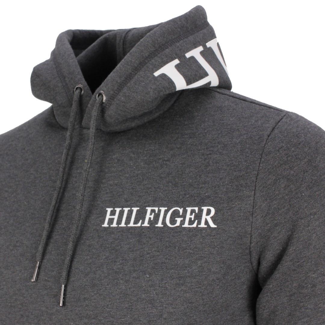 Tommy Hilfiger Sweatshirt Kapuzenpullover MW0MW21424 P92 dark Grey heather Hilfiger Logo ON Hood