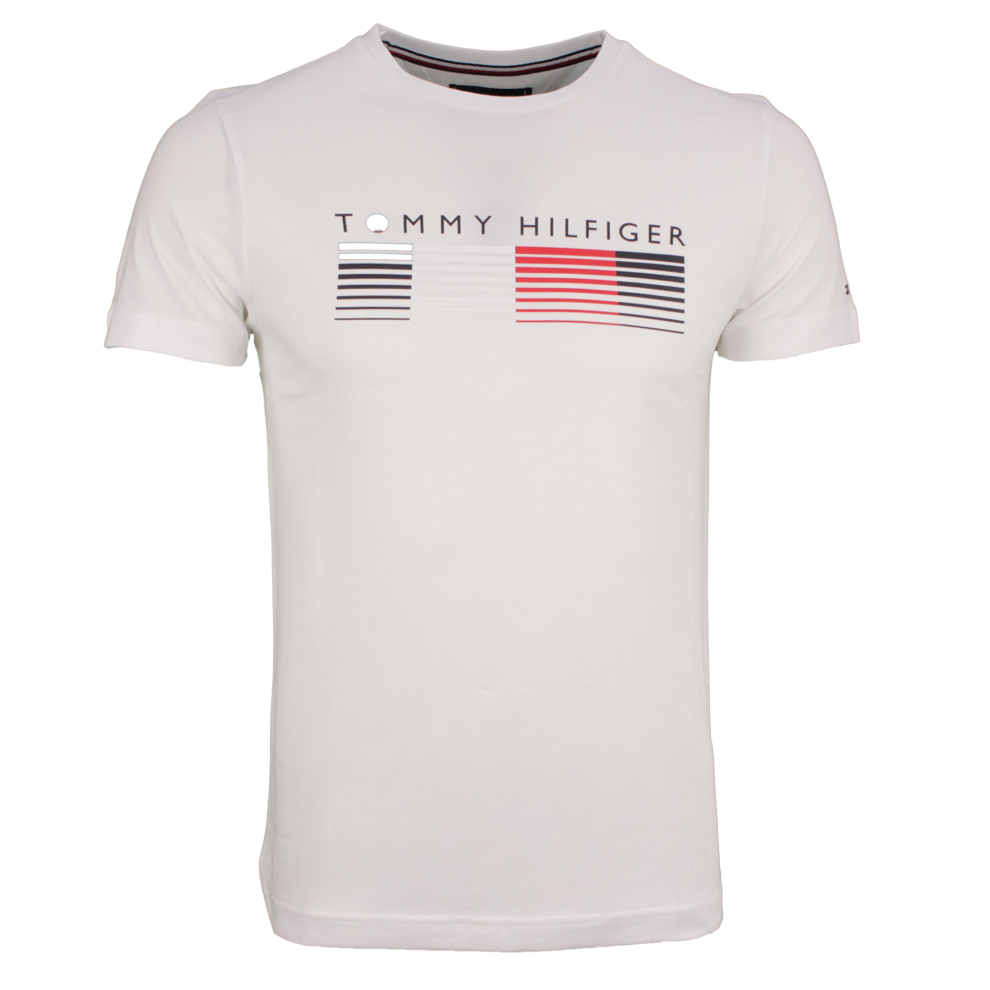 Tommy Hilfiger T-Shirt Shirt kurzarm Fade Graphic Corp Tee weiß MW0MW21008 YBR-white