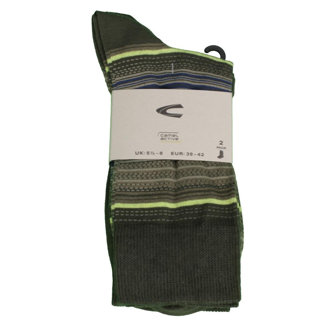 Camel active Socken Doppelpack grün gemustert 6214 276
