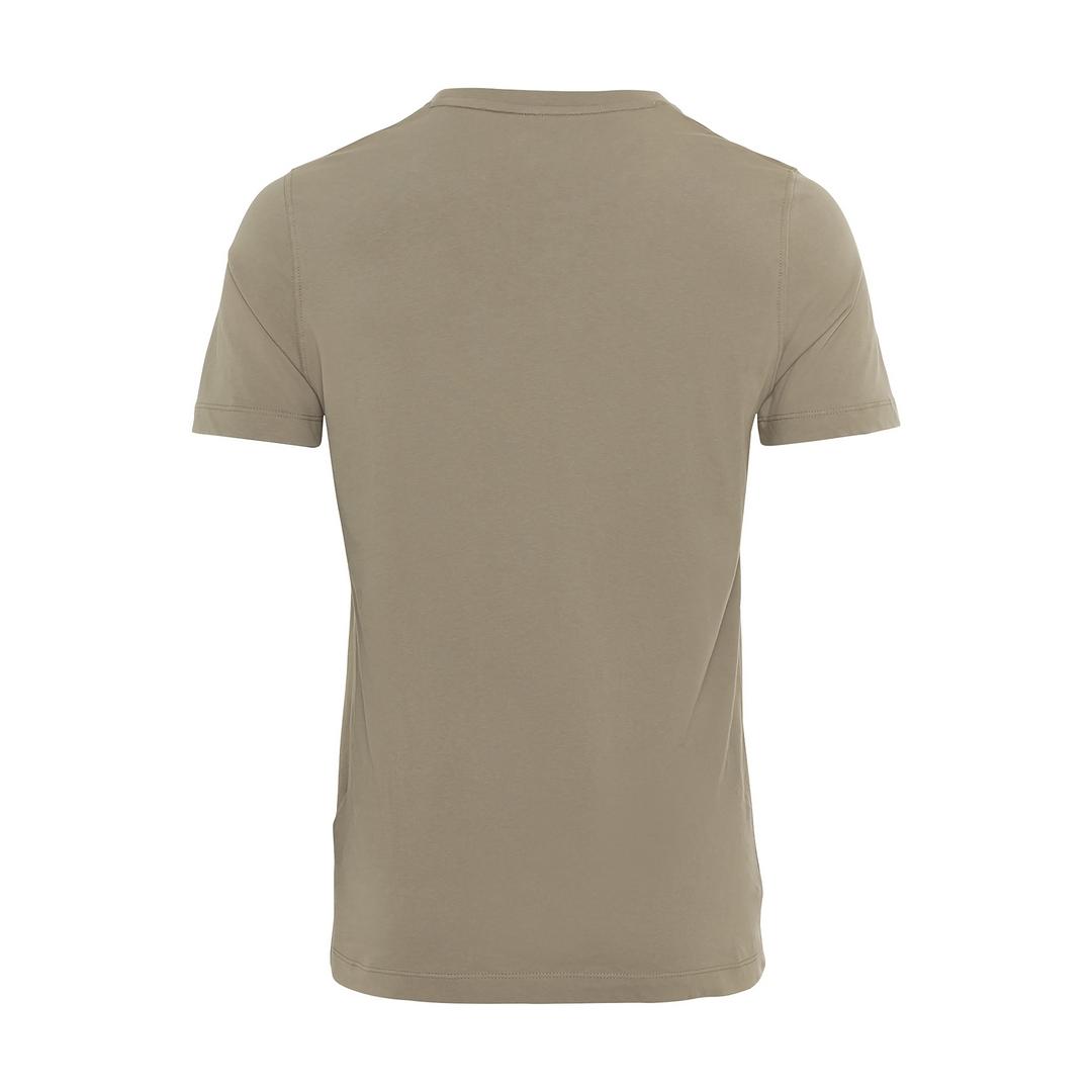 Camel active T-Shirt Organic Cotton Basic khaki grün unifarben 6T01 409641 31