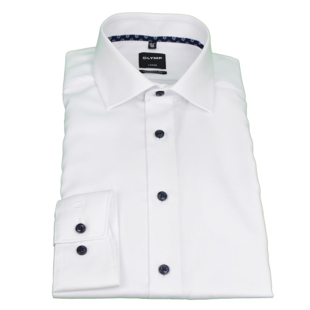 Olymp Modern Fit Hemd weiß unifarben 4887 35 00