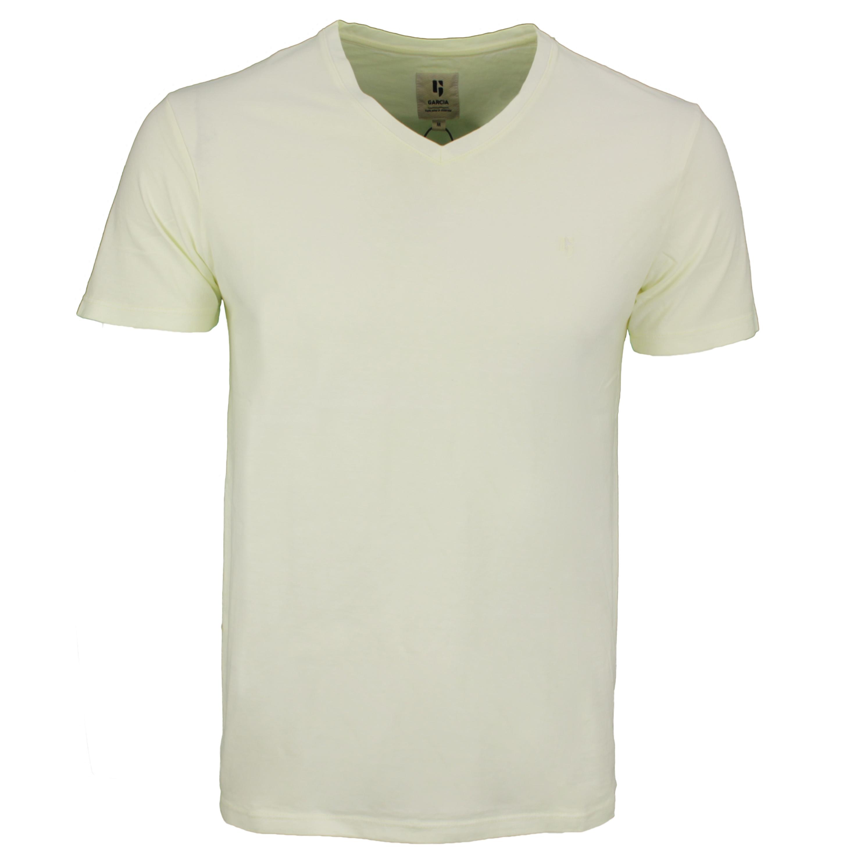 Garcia Herren T-Shirt Shirt kurzarm gelb Used Look E11020 7513 neon lime