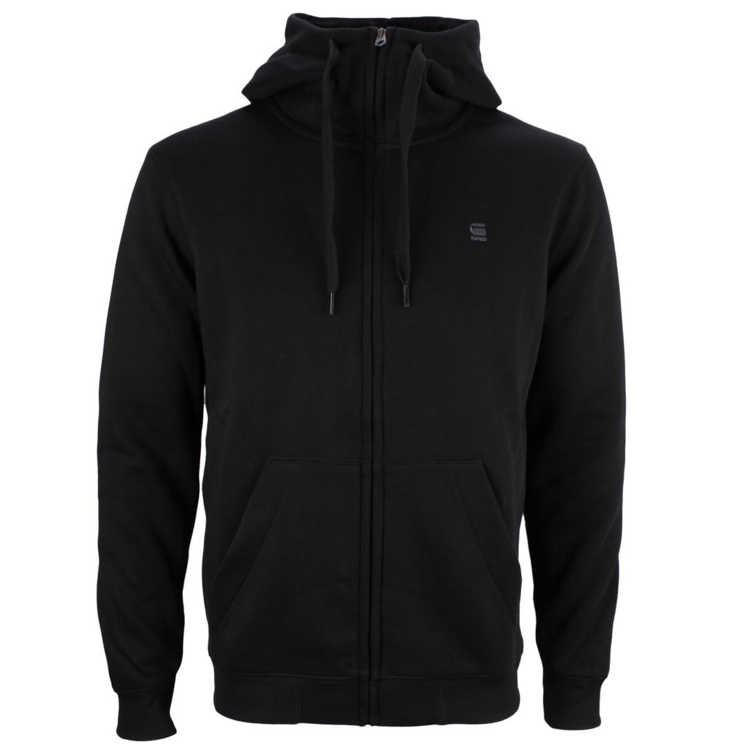 G-Star Raw Sweat Jacke Weste Premium Basic Hooded Zip schwarz D16122 C235 6484 DK Black