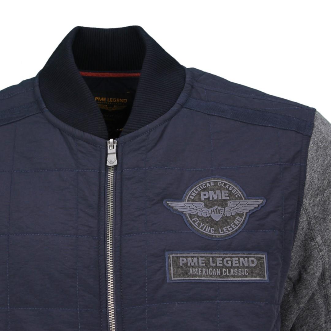 PME Legend Herren Blouson Sweat Jacke blau PSW205409 5288