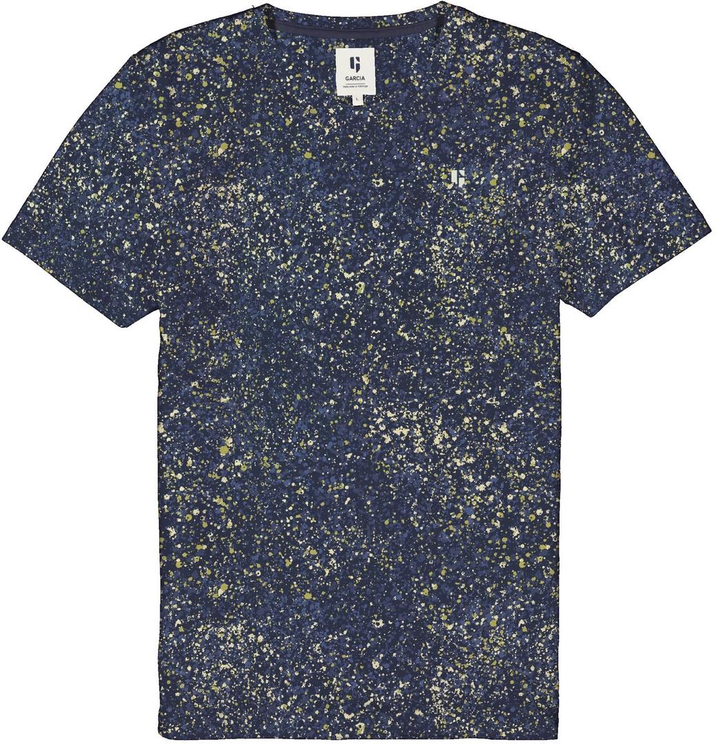 Garcia Herren T-Shirt blau gemustert D11208 6632 imperial blue