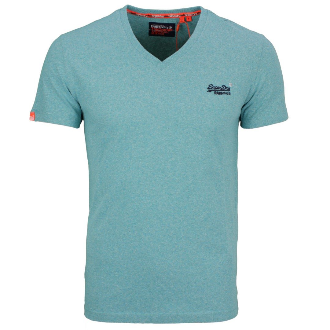 Superdry Herren T-Shirt Oil Vintage Embroidery türkis M1010122A 3GZ Turquoise