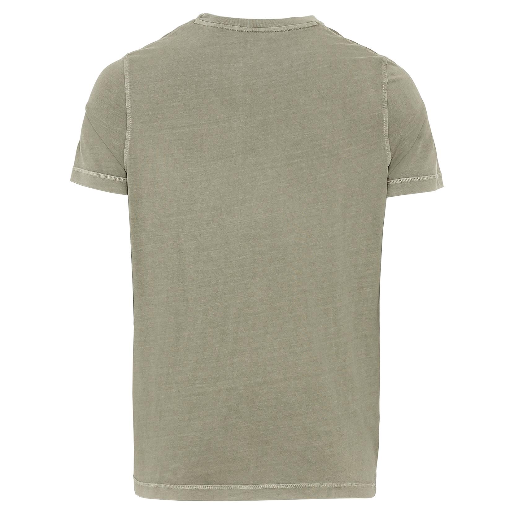 Camel active Herren T-Shirt Shirt kurzarm Print Khaki grün 5T46409646 31