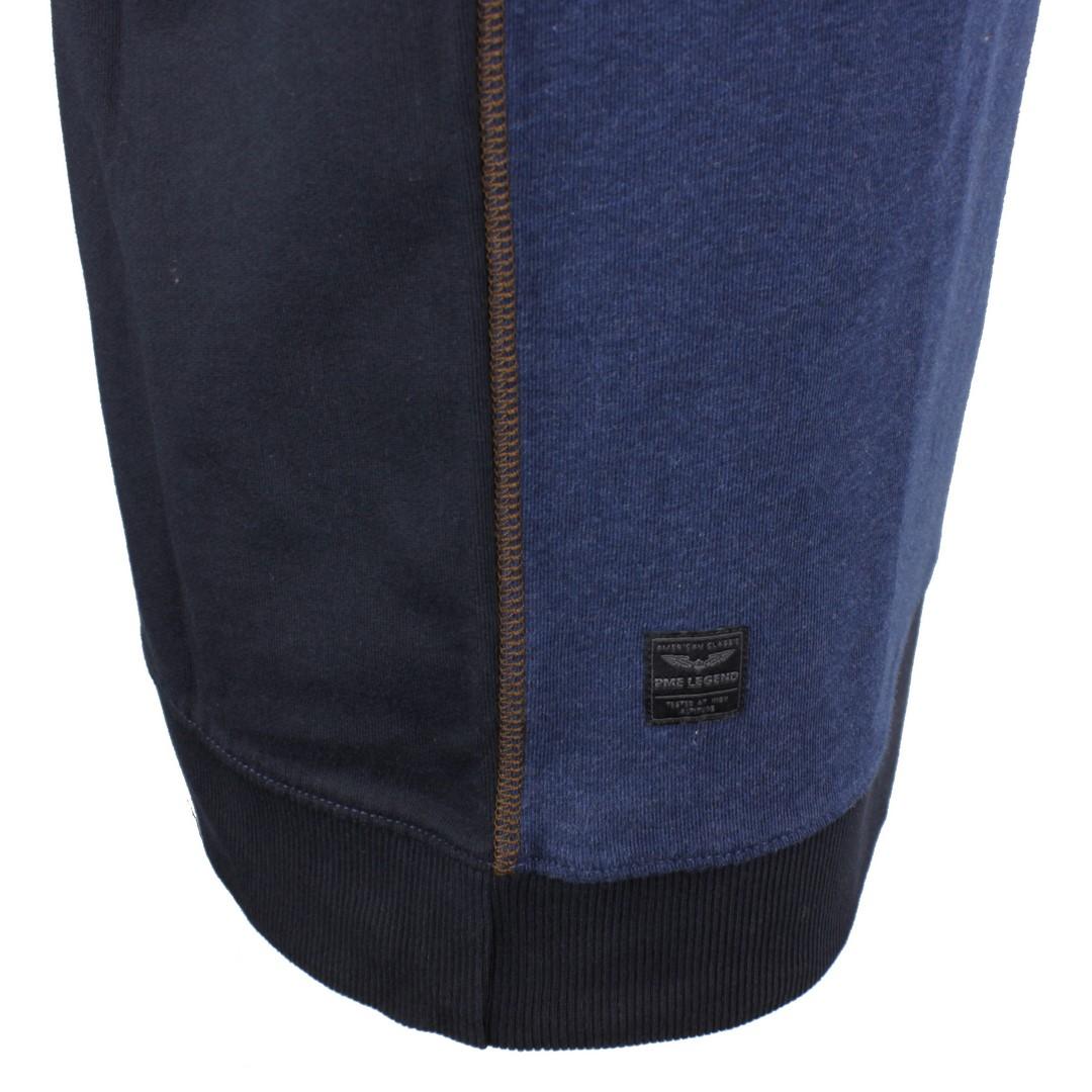 PME Legend Herren Sweat Pullover Interlock blau meliert PLS206514 5288