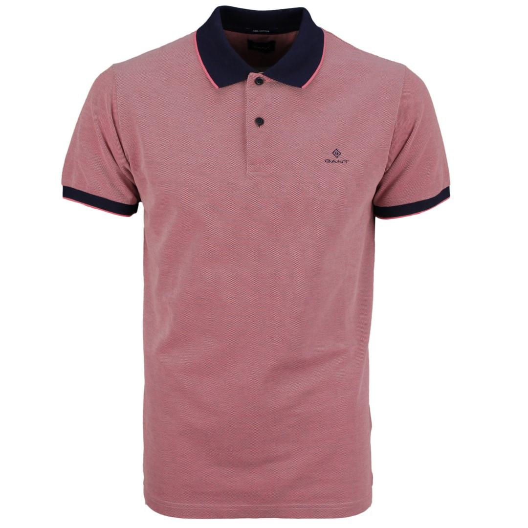 Gant Polo Shirt Oxford Pique Rugger rot strukturiert 2012012 622 pradies Pink