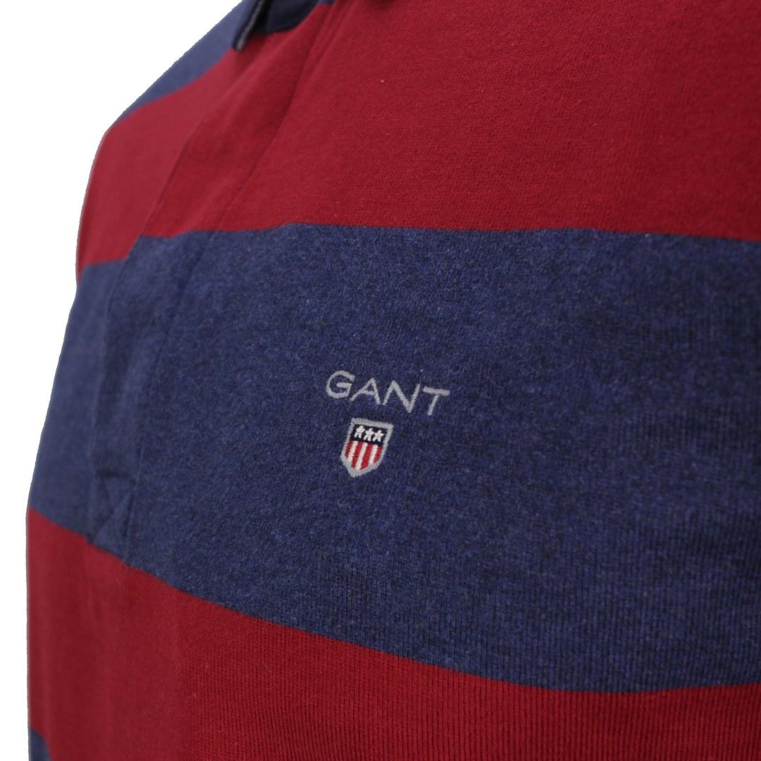 Gant Herren Rugby Shirt Heavy Rugger Blockstreifen rot blau 2005051 617 red