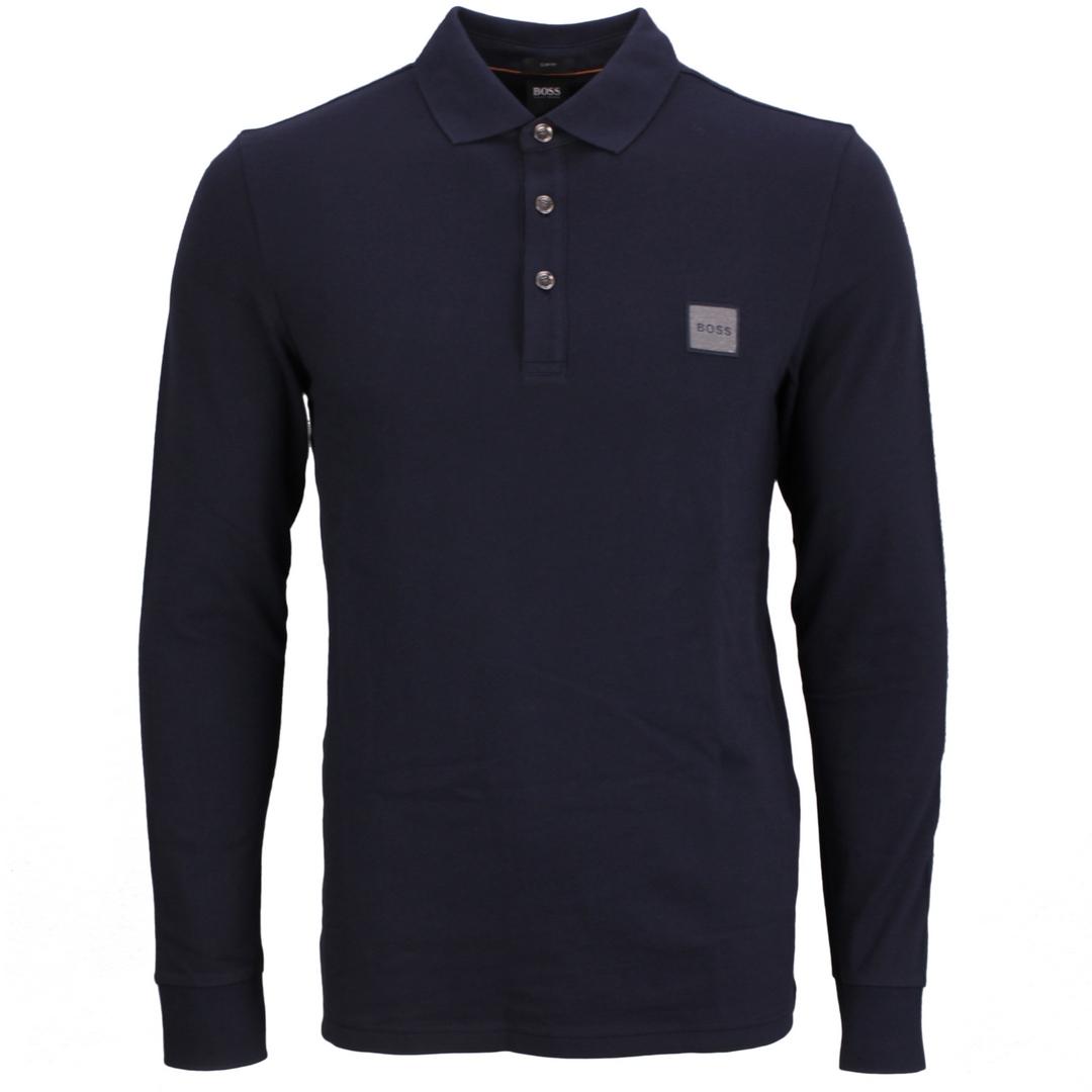 Hugo Boss Rugby Shirt Langarm Shirt Langarmshirt blau Passerby 50462783 404 dark blue