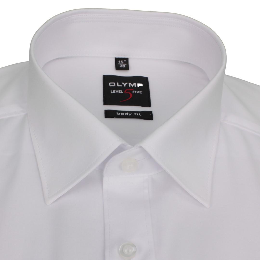 Olymp Body Fit Hemd Kurzarm Level 5 weiß unifarben 609012 00