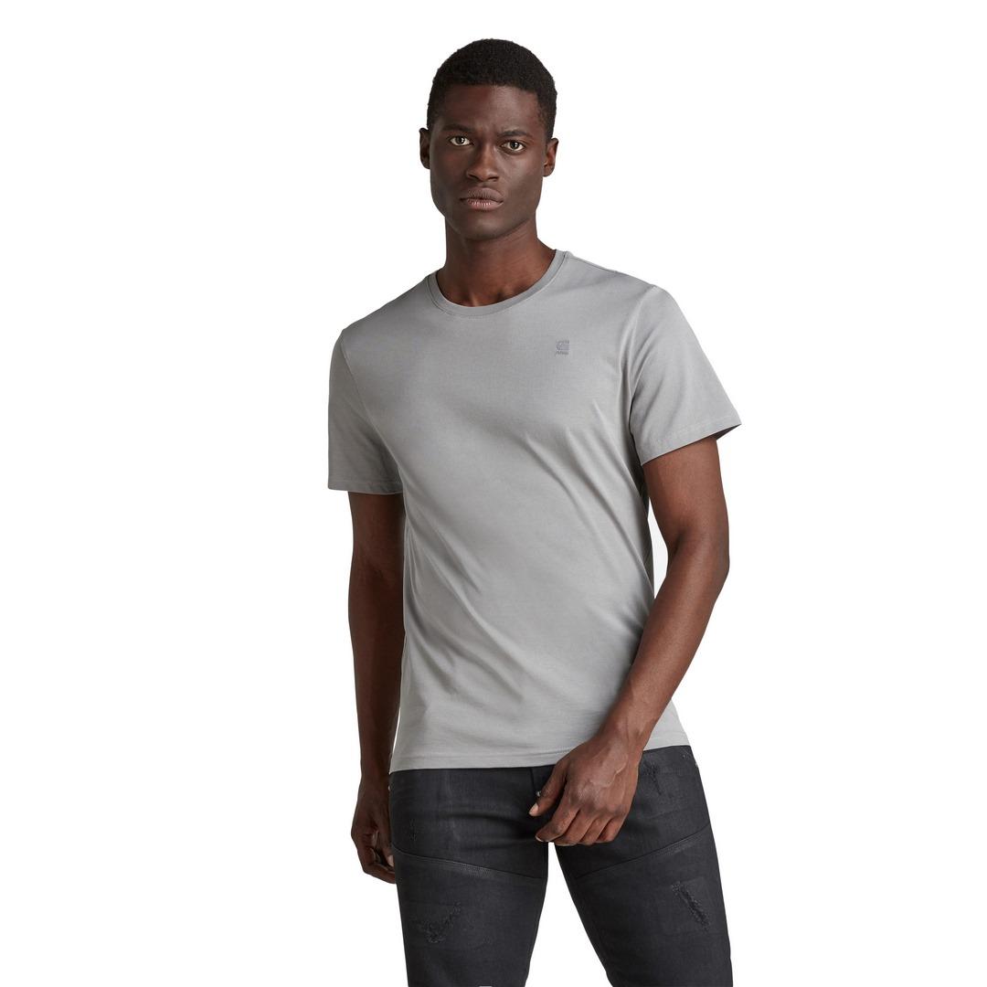 G-Star Raw Herren T-Shirt Shirt kurzarm Base-S grau unifarben D16411 336 942