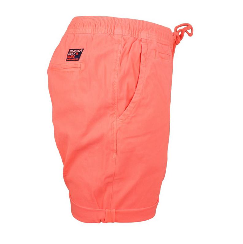 Superdry Herren Short Sunscorched Shorts orange M7110017A MMF Fluro Coral