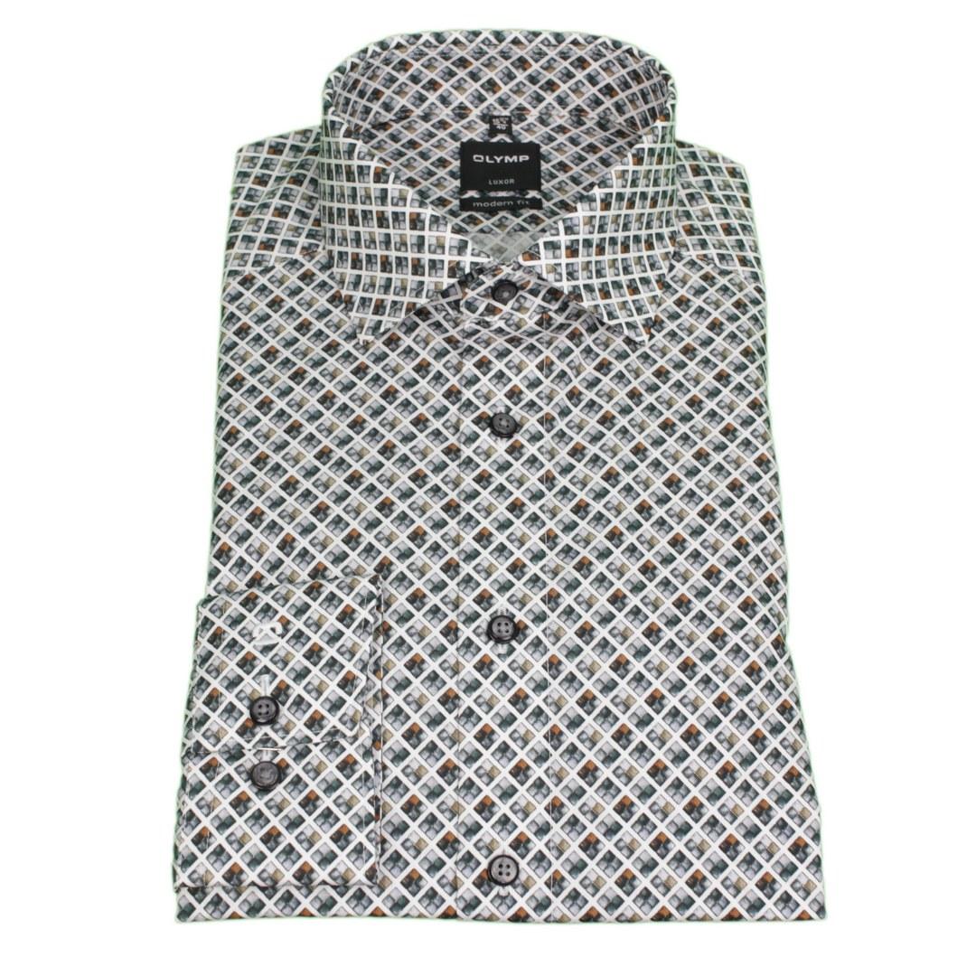 Olymp Luxor Hemd langarm Langarmhemd Businesshemd Modern fit 131284 24 caramel