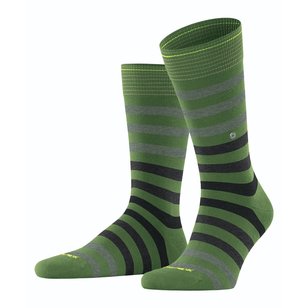 Falke Socken mehrfarbig gestreift Burlington Blackpool 21023 7656 fir green