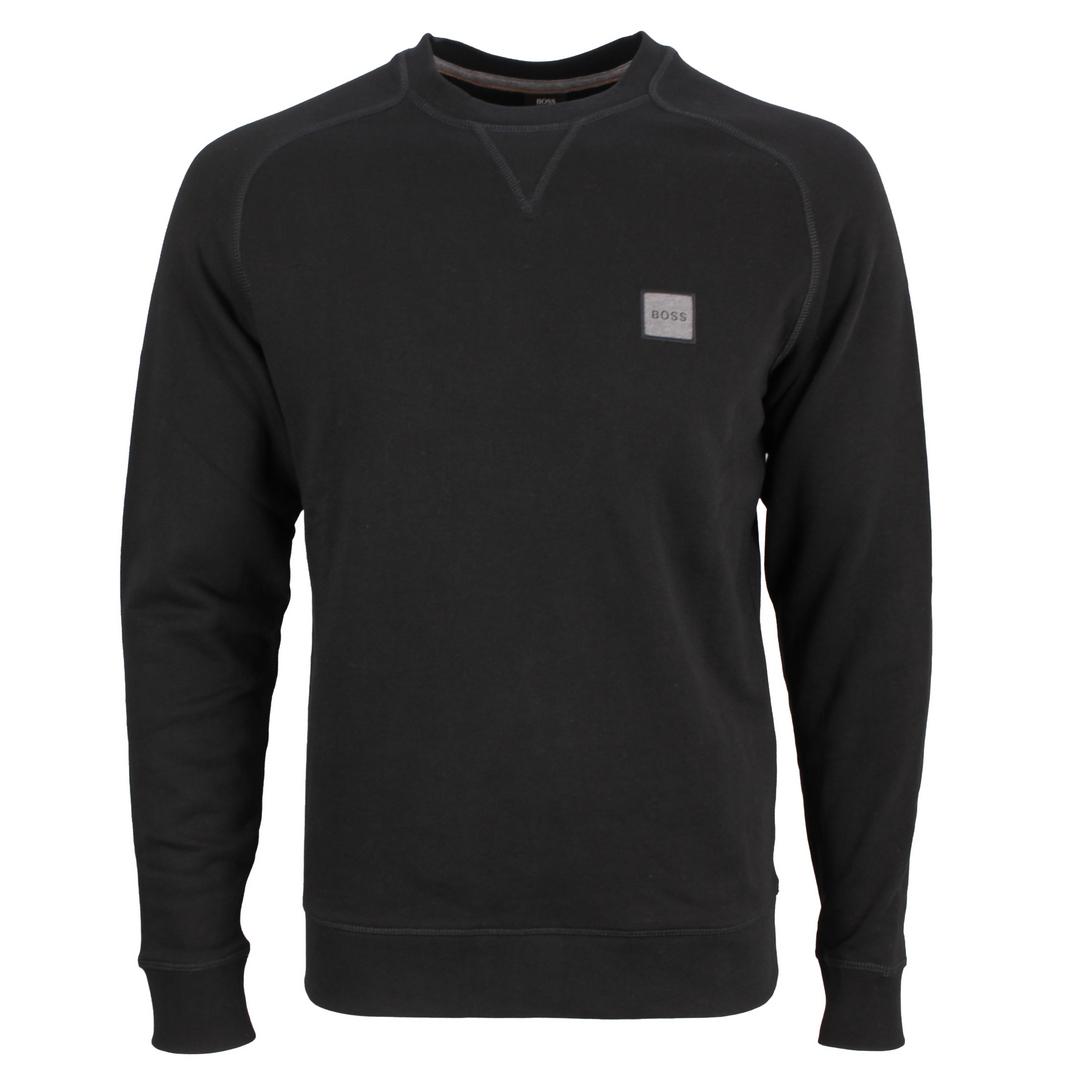 Hugo Boss Herren Sweatshirt schwarz unifarben 50462769 001 black Westart