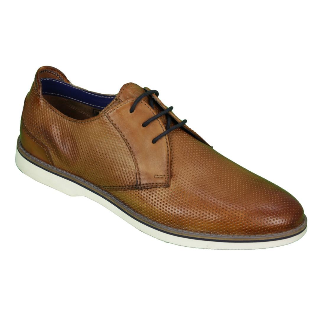 Bugatti Herren Schuhe Schnürschuhe Cognac braun 311 67102 4100 6300