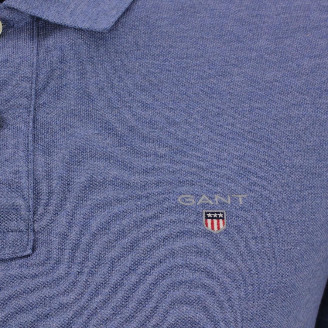 Gant Polo Shirt Original Pique Rugger blau unifarben 2201 906 Denim blue