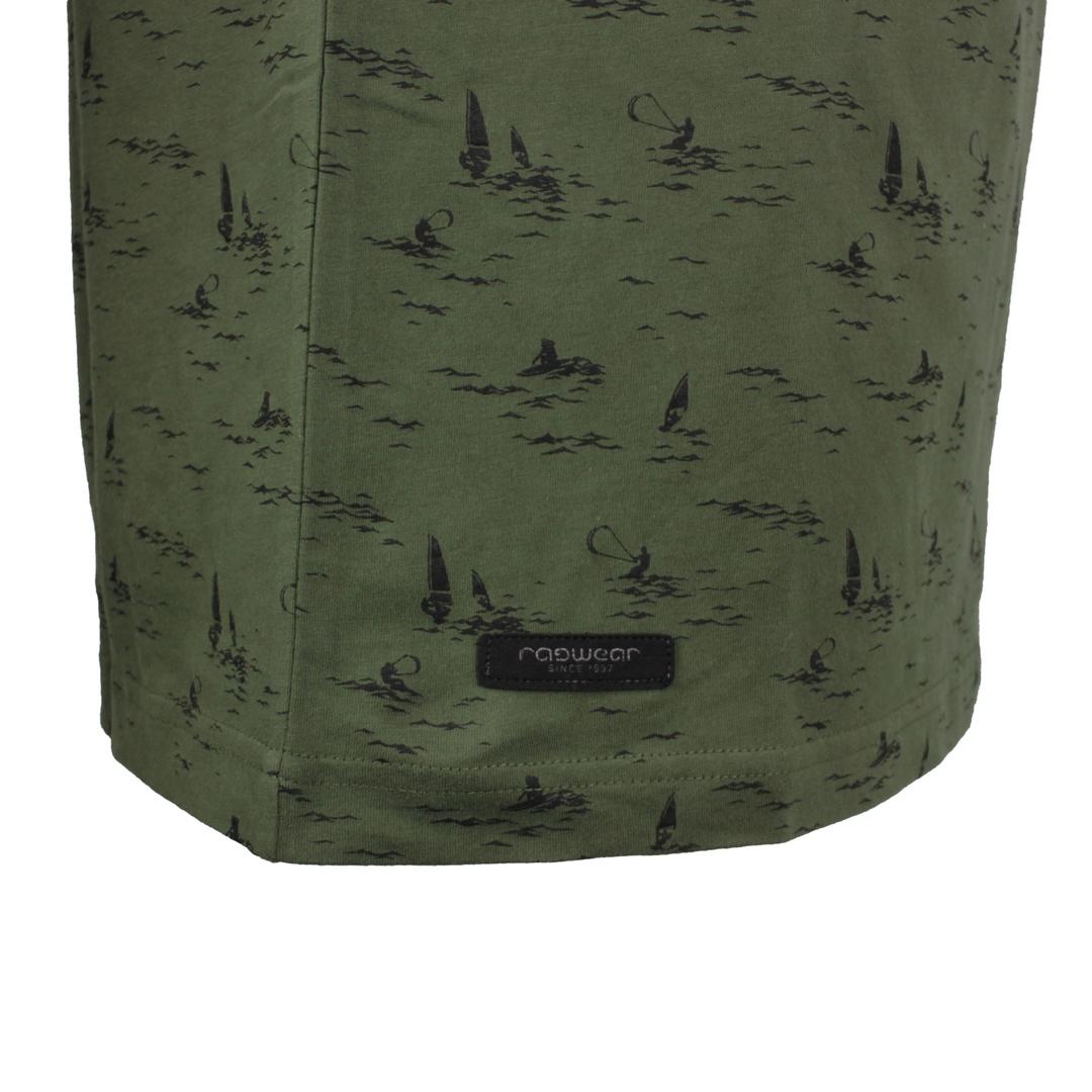 Ragwear Herren T-Shirt Dami grün Allover Print 2112 15011 5010 dark olive