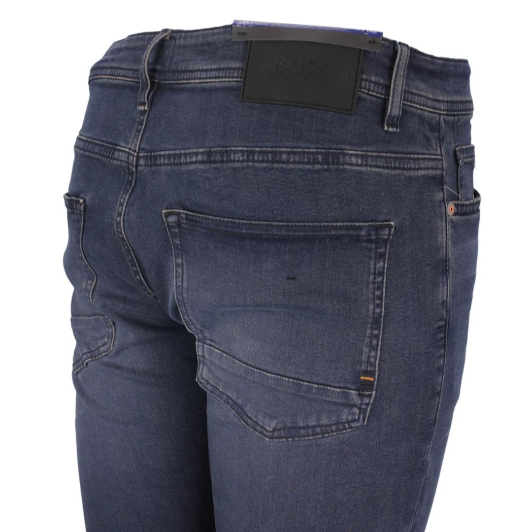Hugo Boss Jeans Hose Jeanshose Slim Fit Super Stretch dunkleblau Delaware 50458323 411