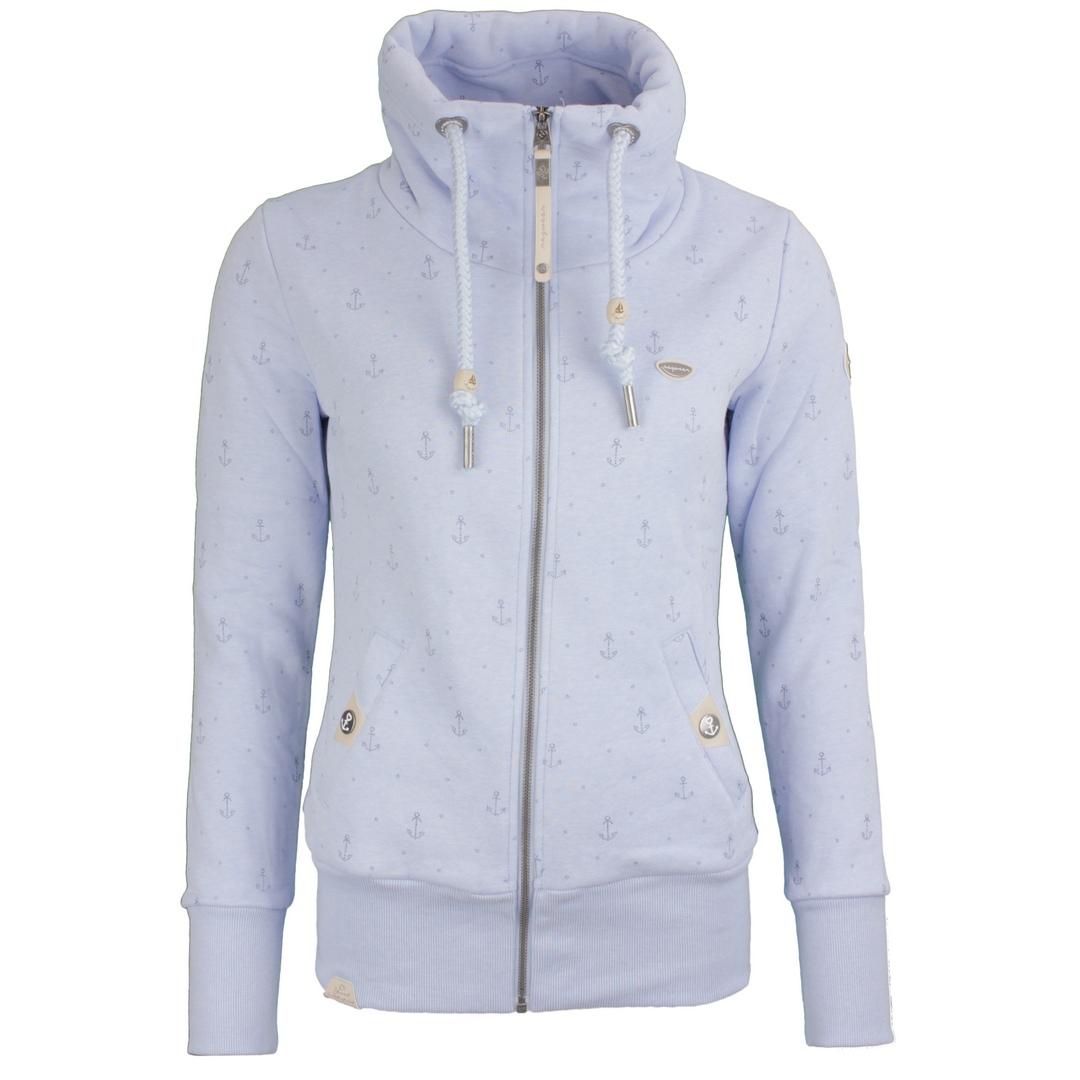 Ragwear Damen Sweat Jacke Sweat Weste Rylie Marina Zip hellblau 2121 30038 2042 Light Blue
