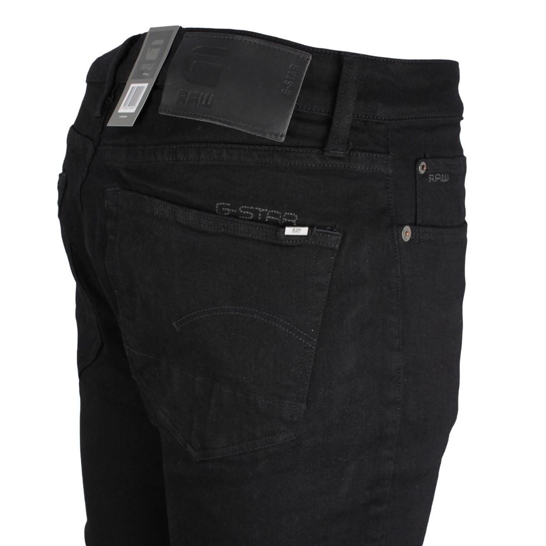 G-Star Raw Herren Jeans 3301 Slim Fit schwarz Denim 51001 B964 A810