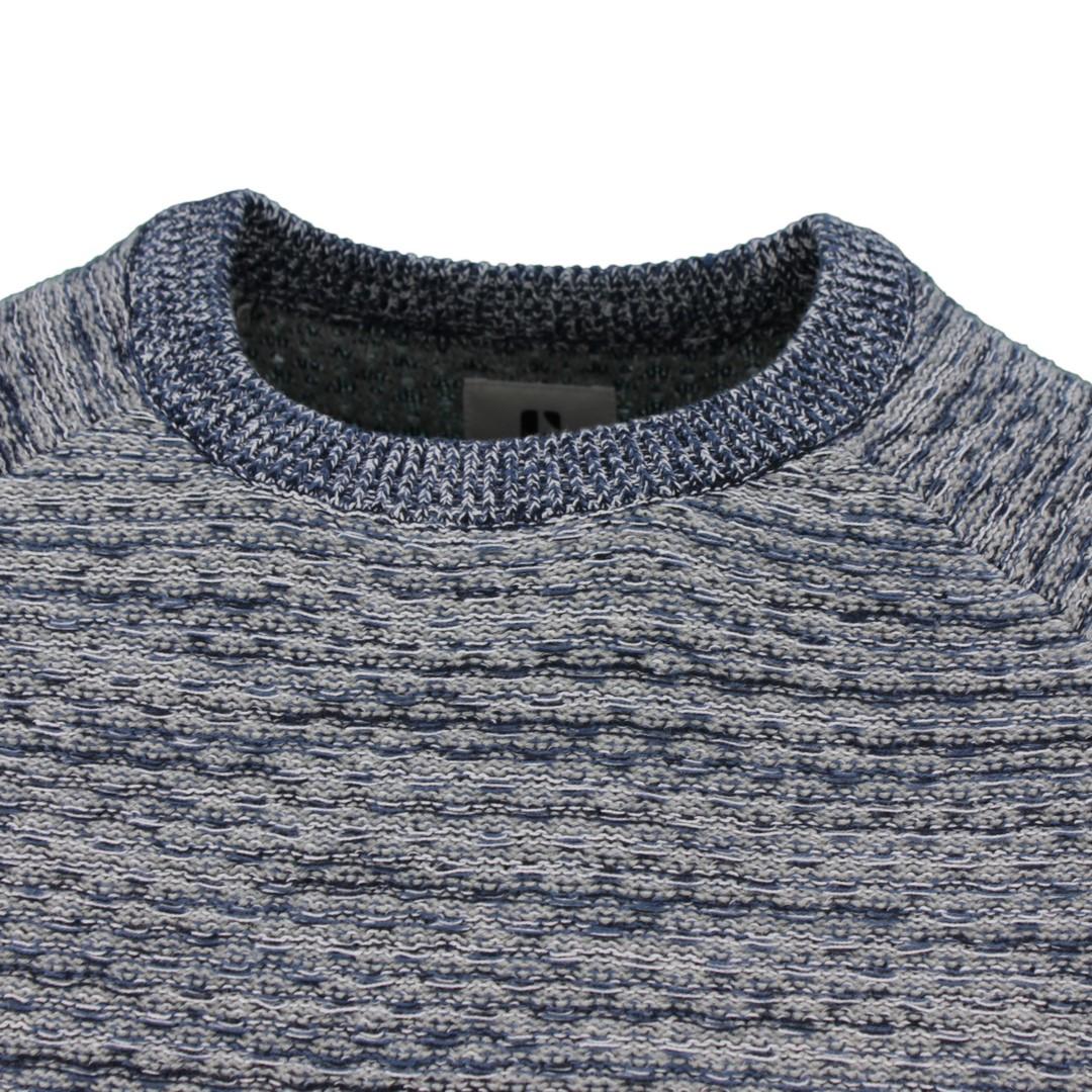 Garcia Herren Strick Pullover Strickpullover blau grau meliert T01250 66 grey melange
