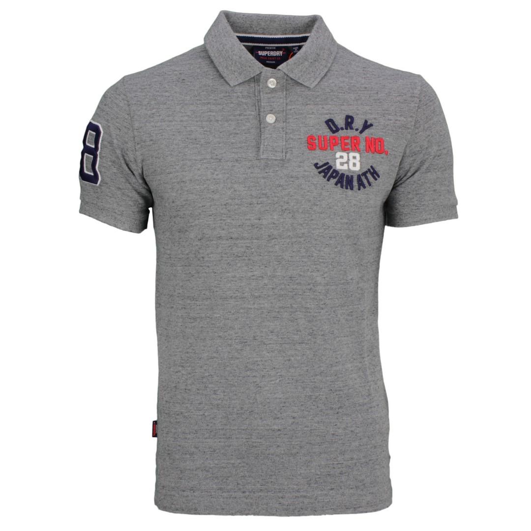 Superdry Herren Polo Shirt Classic Superstate grau M1110008A XJE grey
