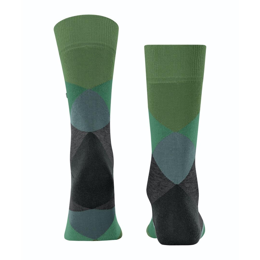 Falke Socken grün Agryl Muster Burlington Clyde 20942 7656 fir green