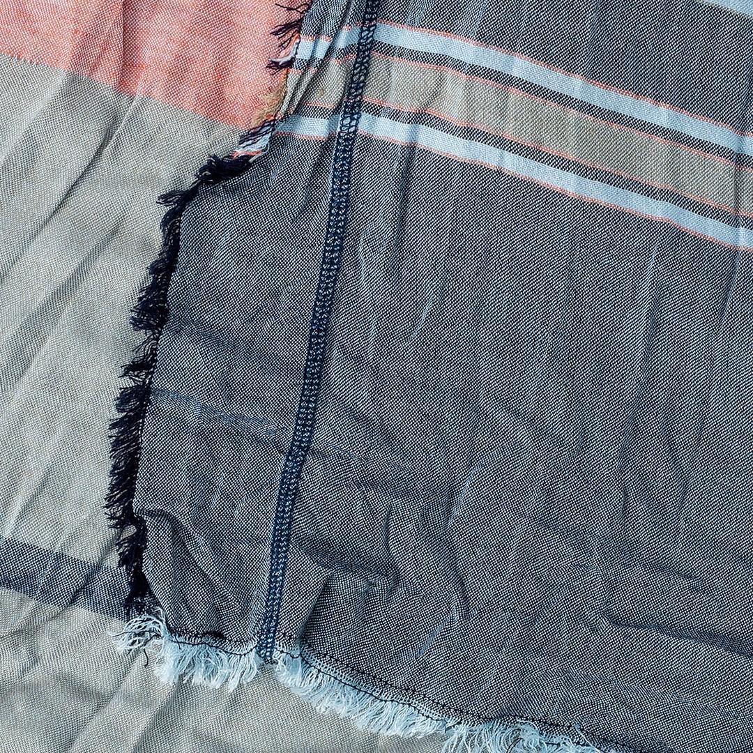 Camel active Schal Tuch mehrfarbig gemustert Doubleface Optik 5V13407130 49