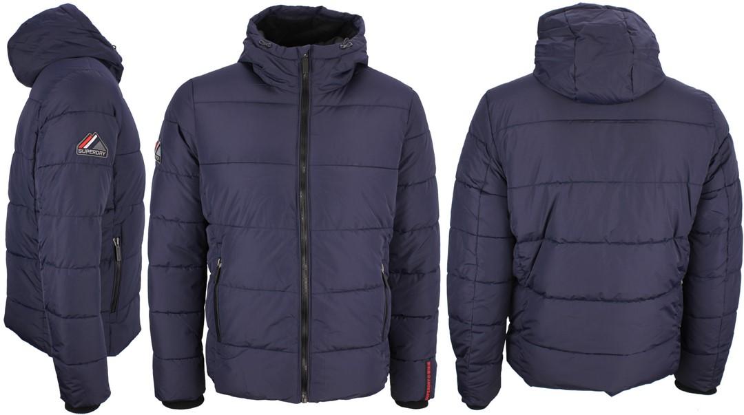 Superdry Herren Winter Jacke Sports Puffer blau gesteppt M5010227A JYC navy-black