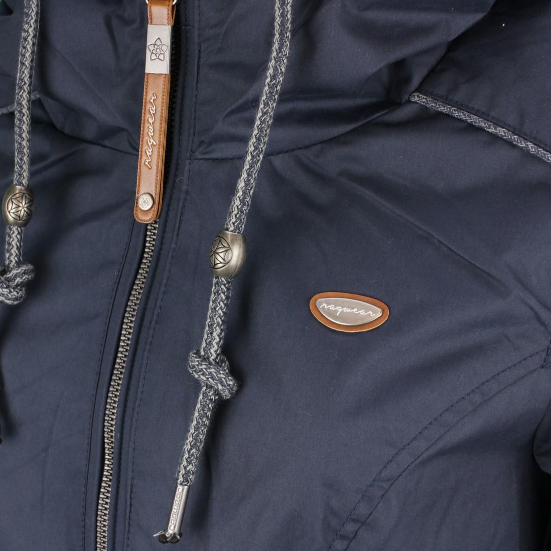 Ragwear Damen Sommer Jacke dunkel blau unifarben Danka 2111 60019 2050 indigo