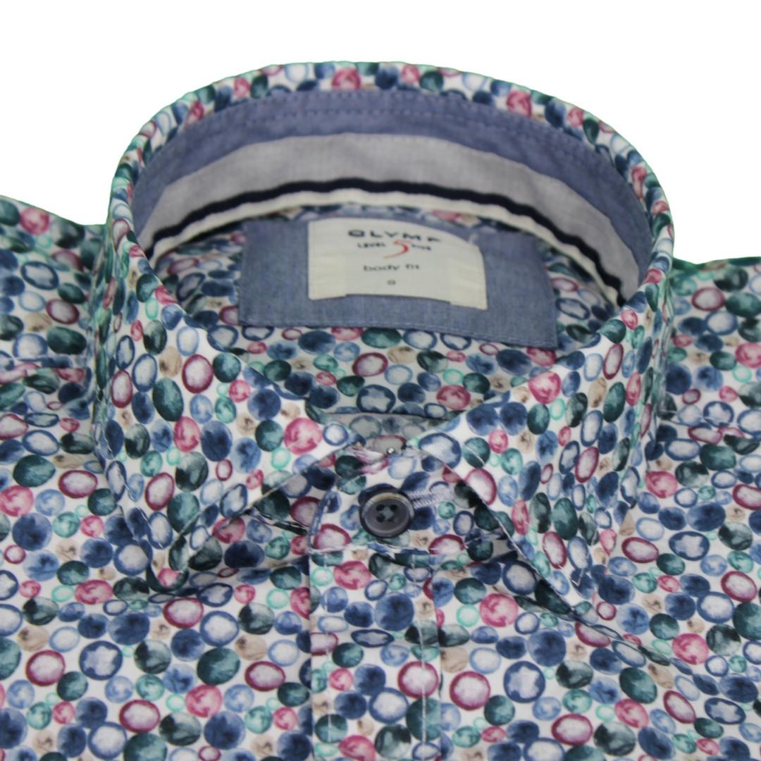 Olymp Herren Casual Level 5 Freizeit Hemd mehrfarbig gemustert 301064 49
