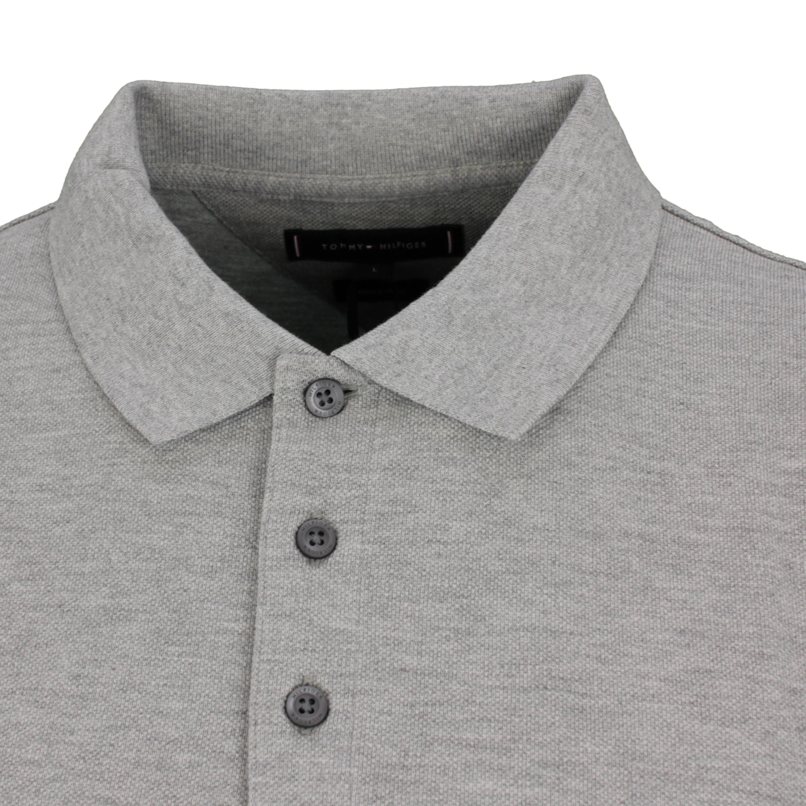 Tommy Hilfiger Polo Shirt Contrast Placket grau MW0MW19379 P91 grey
