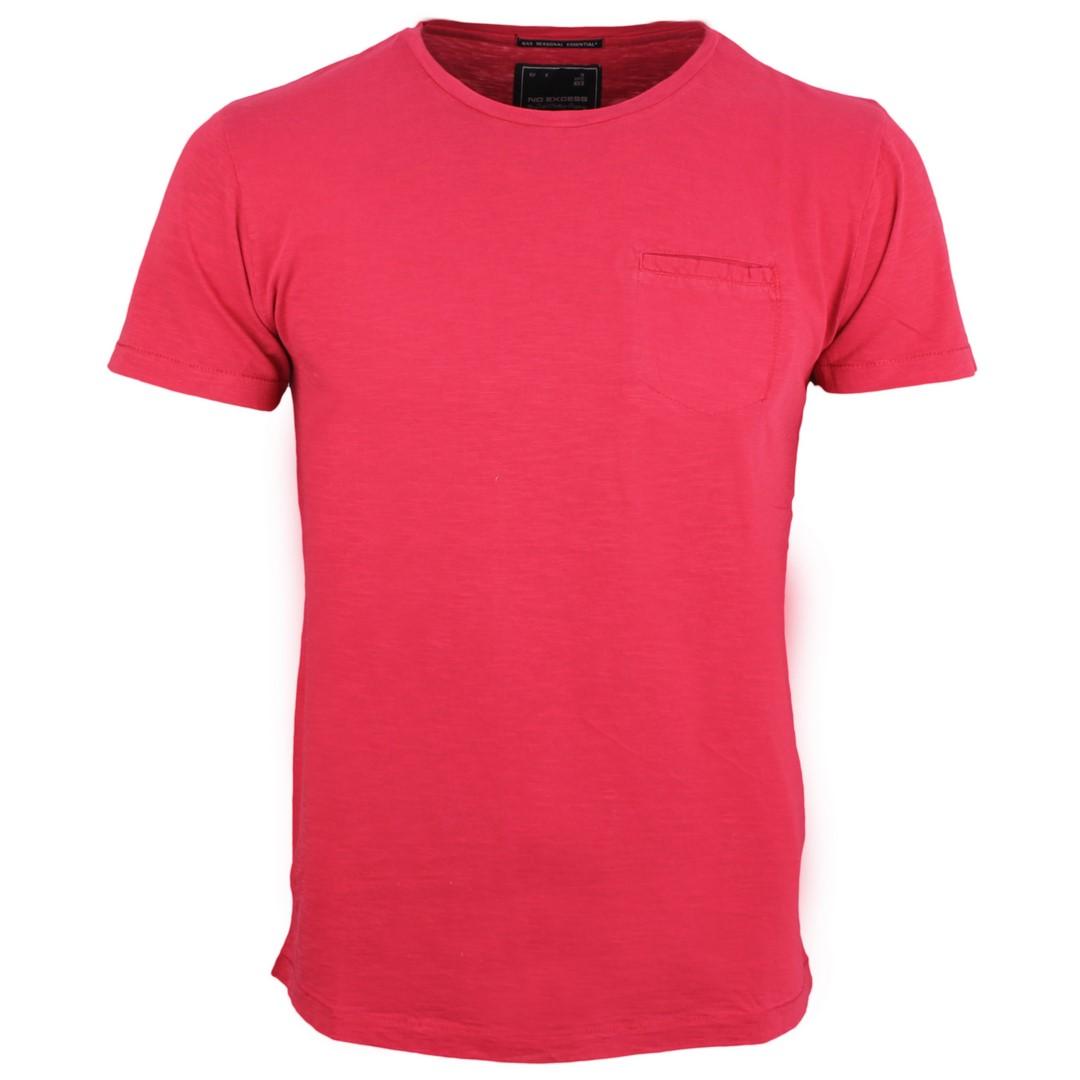 No Excess Herren T-Shirt rot meliert 90340401N 182 dk cherry