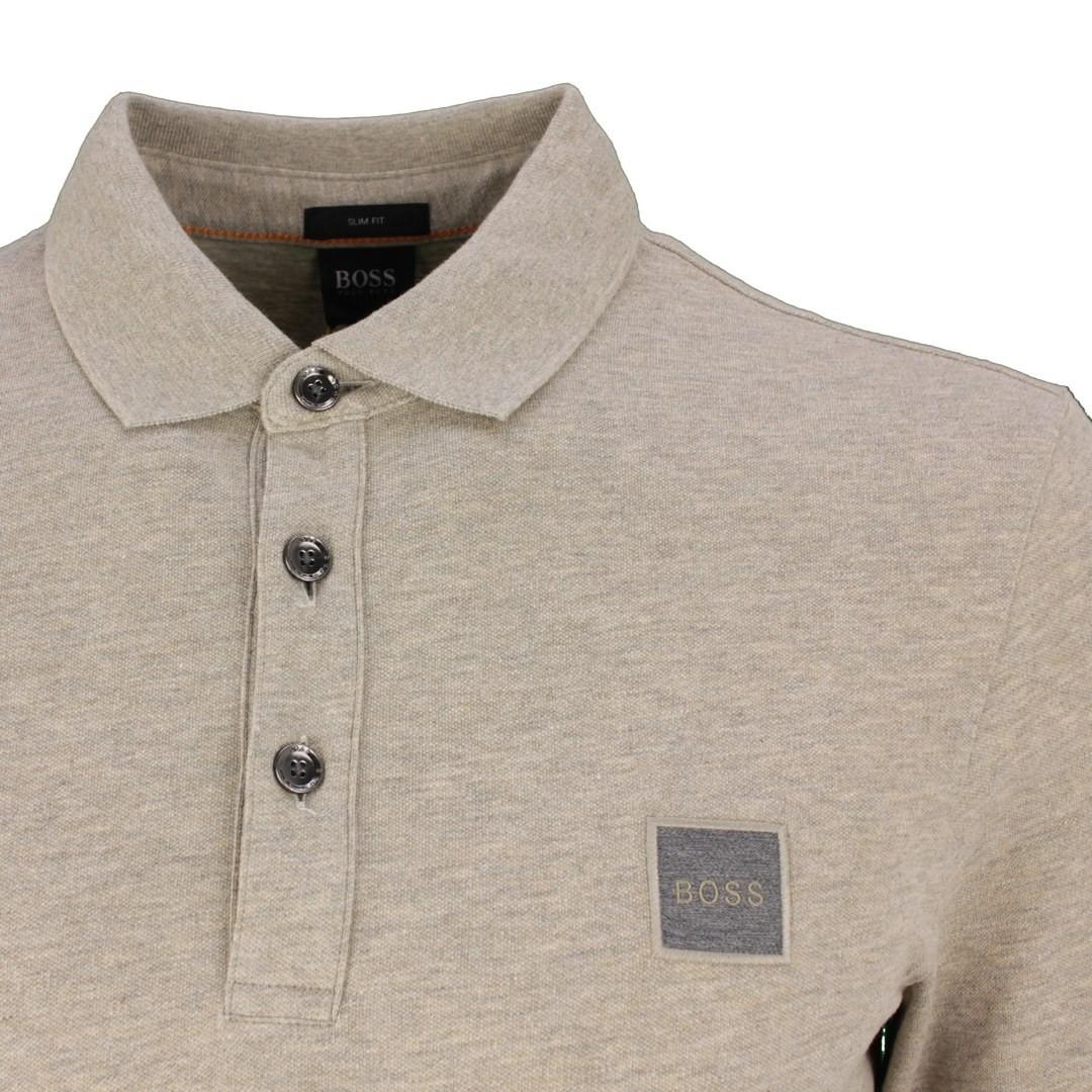 Hugo Boss Rugby Shirt Langarm Shirt Langarmshirt braun Passerby 50462783 240 Open Brown